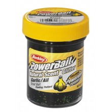 Berkley Natural Scent Trout Bait Garlic Pasta per Trote Aglio Black