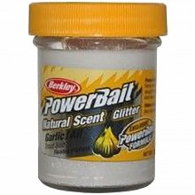Berkley Natural Scent Trout Bait Garlic Pasta per Trote Aglio White