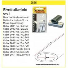 OLYMPUS Rivetti in alluminio OVALI