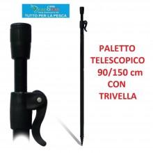 PALETTO CON TRIVELLA TELESCOPICO FILETTATO BANK STICK DAMA 90/150 Cm