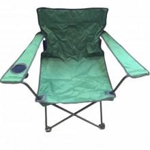 Sedia pieghevole da campeggio con portabicchiere sacca per trasporto verde