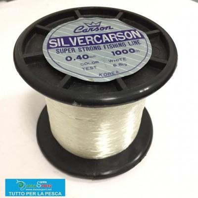 Carson Silver 0.40 monofilo pesca mt 1000 bianco lenza nylon travi surfcasting